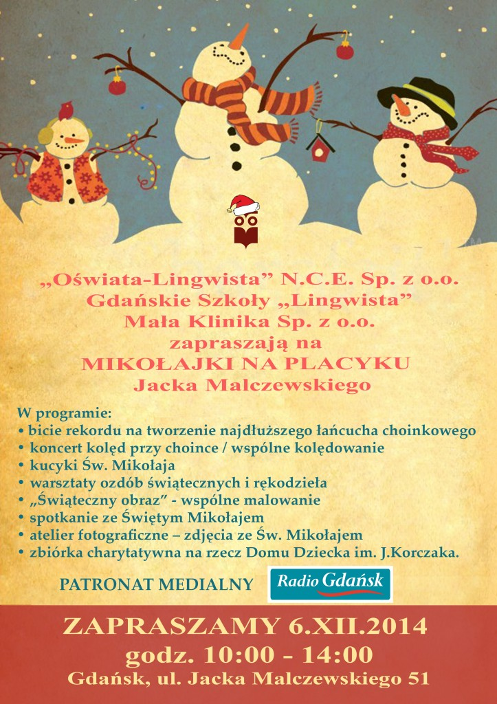 plakat mikołajki z logo radia gdańsk 2014 (2)