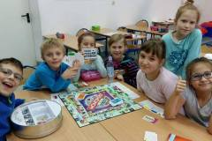 Dzień gier podczas świetlicy w klasie III