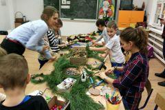 Warsztaty świąteczne dzieci i rodziców klasy I